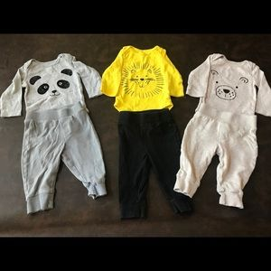 3 sets of 3-6 months Koalababy outfits